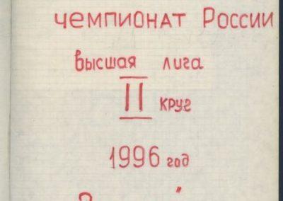 1996 - Чемпионат России Высшая Лига - 2-й круг.jpg